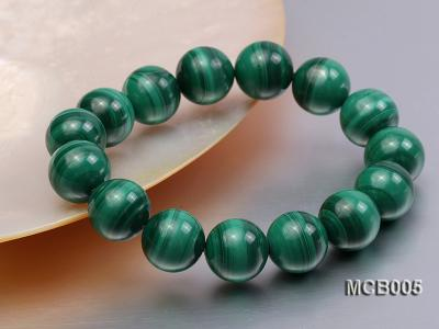 14mm green peacock round  malachite bracelet MCB005 Image 2