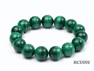 14mm green peacock round  malachite bracelet MCB005 Image 1