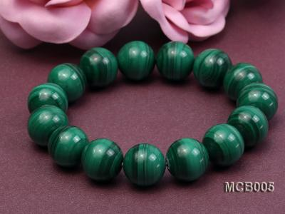 14mm green peacock round  malachite bracelet MCB005 Image 3
