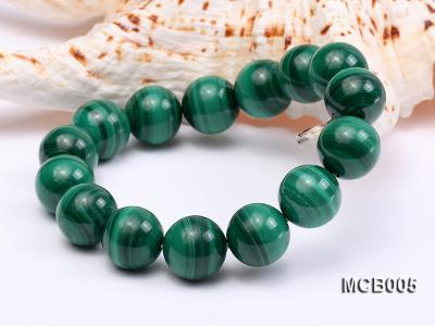 14mm green peacock round  malachite bracelet MCB005 Image 5