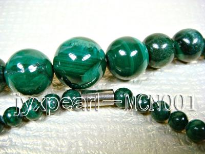 6-16mm green peacock round malachite necklace MCN001 Image 3
