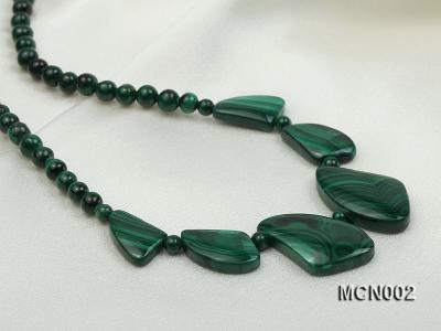 5mm Malachite Beads and Irregular Malachite Pieces Necklace MCN002 Image 8
