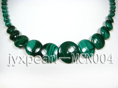 6mm green peacock round and button-shaped  malachite necklace MCN004 Image 2