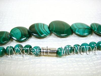 6mm green peacock round and button-shaped  malachite necklace MCN004 Image 3