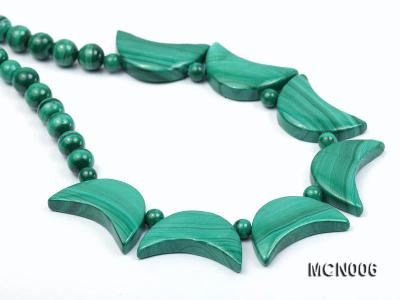 6mm Malachite Beads and Crescent-shaped Malachite Pieces Necklace MCN006 Image 7