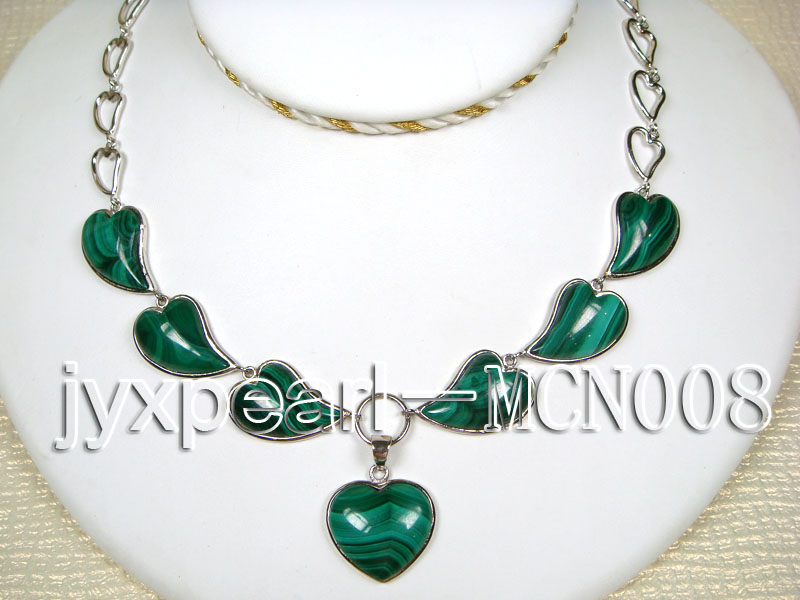 17x25mm Heart-shaped Malachite Necklace big Image 1