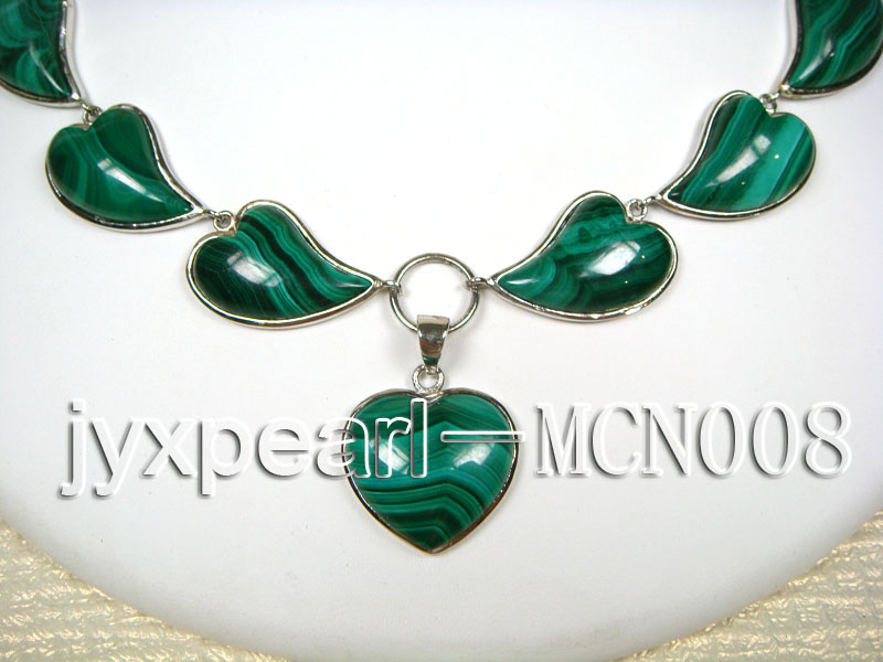 17x25mm Heart-shaped Malachite Necklace big Image 2