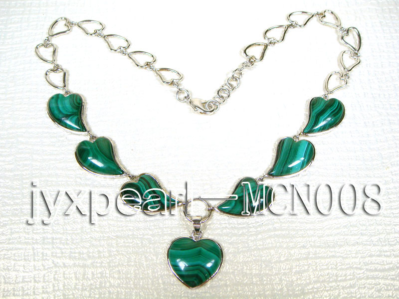 17x25mm Heart-shaped Malachite Necklace big Image 4