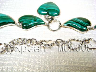 17x25mm Heart-shaped Malachite Necklace MCN008 Image 3