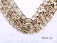 Wholesale 14*19mm Oval Lemon Quartz String GOG183