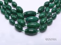 Wholesale 9x13-20x35mm Vivid Green Faceted Oval Gemstone String GOG184