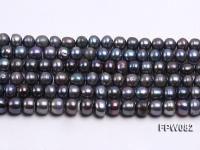 Wholesale 8-9mm Black Flat Cultured Freshwater Pearl String FPW082