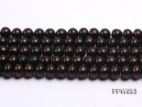 Wholesale 8-9mm Black Flat Cultured Freshwater Pearl String FPW083