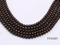 Wholesale 7x8mm Black Flat Freshwater Pearl String FPW097