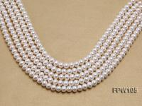 Wholesale 8x10mm White Flat Freshwater Pearl String FPW105