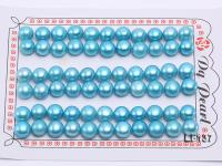 Wholesale Cards of 8-8.5mm Blue Flat Pearls--33 Pairs LF137