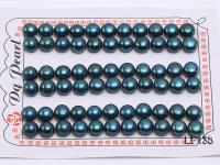 AA-grade 8-8.5mm Loose Blue Peacock Flat Pearl for Earring Making  LF138