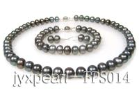 9-10mm Greyish black pearl set FPS014