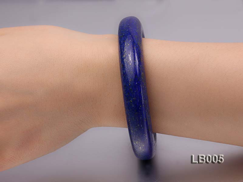 13.5mm Azure Blue Lapis Lazuli Bangle big Image 2