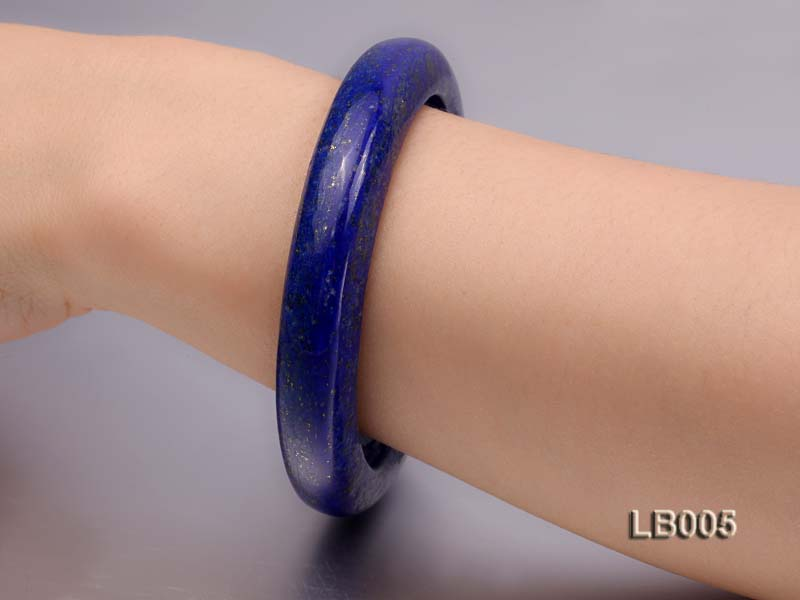 13.5mm Azure Blue Lapis Lazuli Bangle big Image 3