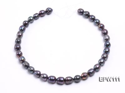 Wholesale 11x12mm Black Rice-shaped Freshwater Pearl String EPW111 Image 3