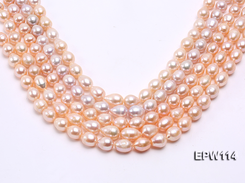 Wholesale 11x13mm Pink Rice-shaped Freshwater Pearl String big Image 1