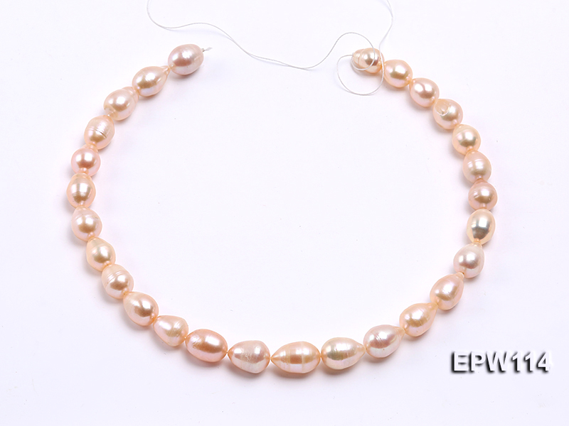 Wholesale 11x13mm Pink Rice-shaped Freshwater Pearl String big Image 3
