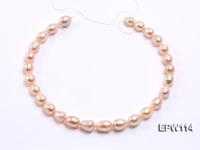 Wholesale 11x13mm Pink Rice-shaped Freshwater Pearl String EPW114 Image 3