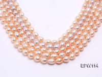 Wholesale 11x13mm Pink Rice-shaped Freshwater Pearl String EPW114