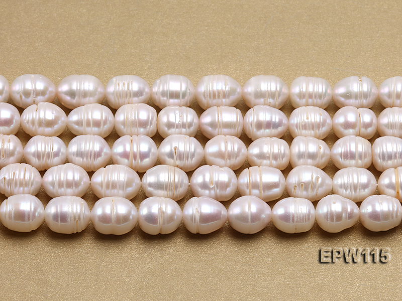 Wholesale 10x12.5mm Rice-shaped Freshwater Pearl String big Image 1
