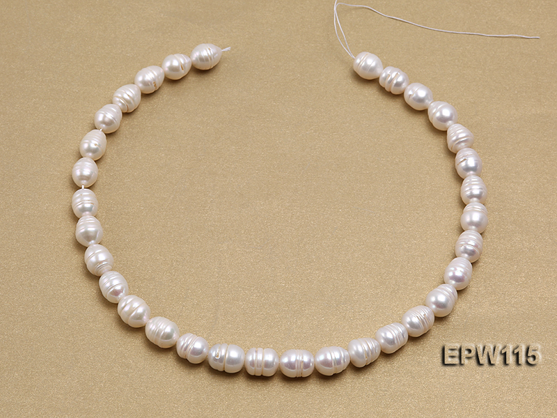 Wholesale 10x12.5mm Rice-shaped Freshwater Pearl String big Image 3