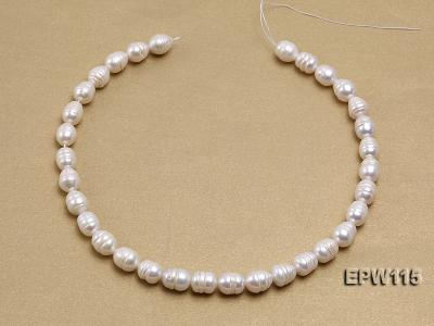 Wholesale 10x12.5mm Rice-shaped Freshwater Pearl String EPW115 Image 3