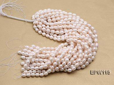 Wholesale 10x12.5mm Rice-shaped Freshwater Pearl String EPW115 Image 4