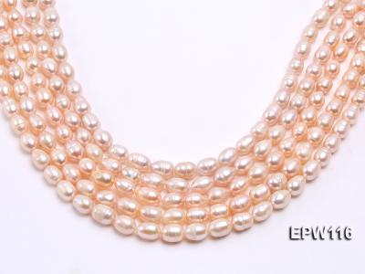 Wholesale 9x12mm pink Rice-shaped Freshwater Pearl String EPW116 Image 2