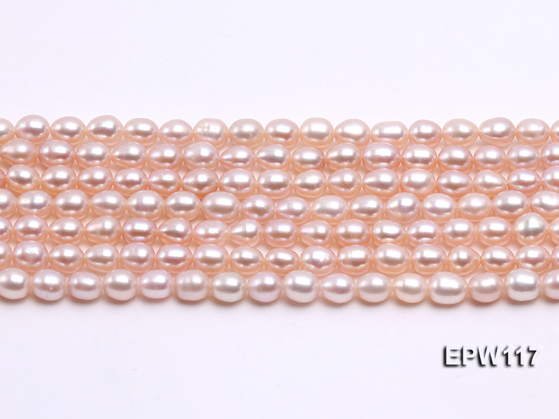 Wholesale 5x6mm High-quality Pink Rice-shaped Freshwater Pearl String big Image 2