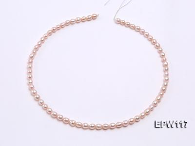 Wholesale 5x6mm High-quality Pink Rice-shaped Freshwater Pearl String EPW117 Image 3