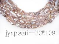 wholesale 14x17mm natural lavender freshwater pearl strings  BCW109