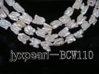 wholesale 14x17mm white freshwater twin pearl strings  BCW110
