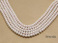 Wholesale 9-10mm White Flat Freshwater Pearl String FPW120