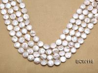 Wholesale High-quality 13-14mm Classic White Coin-shaped Cultured Freshwater Pearl String BCW116