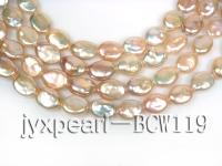 Top quality 13*15mm Pink Coin Pearl BCW119
