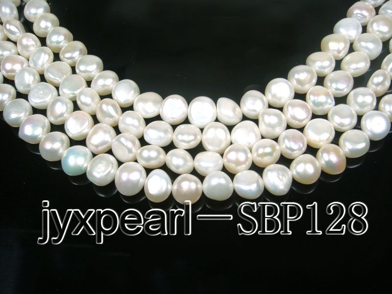 wholesale 10-11mm white flat pearl strings big Image 1