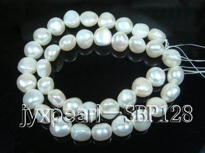 Wholesale 10-11mm Classic White Flat Freshwater Pearl String SBP128 Image 3