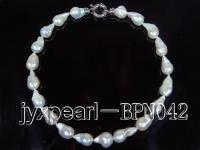 wholesale 12-15mm Baroque Pearl Necklace BPN042