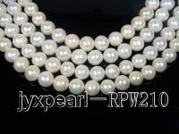 wholesale & Retail AA-grade 13-14.5mm white round pearl RPW210