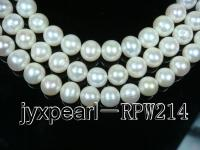 AAAA-grade 13-14.5mm white round pearl strings RPW214