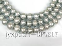 wholesale 12.5-13.5mm Silver Grey round pearl strings RPW217