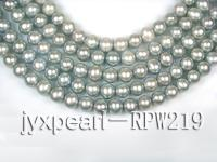 wholesale & Retail A-grade 10-11mm Silver Grey round pearl strings RPW219