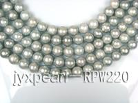 wholesale & Retail A-grade 10-11mm Silver round pearl strings RPW220