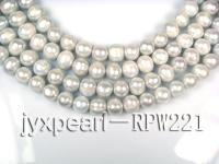 wholesale & Retail A-grade 10-11mm Gray round pearl strings RPW221
